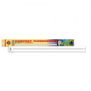 """Coralife 6,700K Compact Fluorescent Lamp - Straight Pin - 65 W - 21"""""""