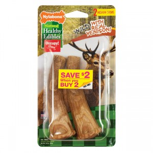 Healthy Edibles Edible Antler Real Venison - Medium - 2 pk
