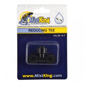 "Reducing Tee for Misting Systems - 3/8"" to 1/4"""