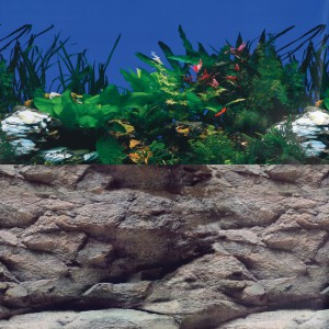 "White Stone River/Rock Wall Reversible Background - 20"" - Sold by the Foot"