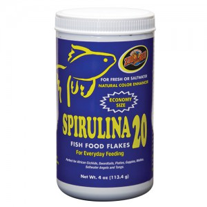 Spirulina 20 Fish Food Flakes - 4 oz