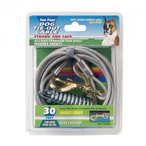 Tie-Out Cable for Dogs - Heavy Weight - 30 ft