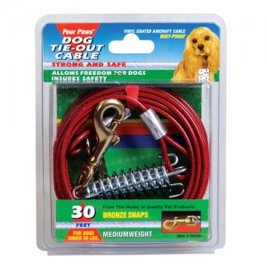Tie-Out Cable for Dogs - Medium Weight - 30 ft