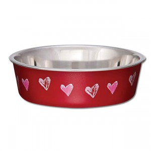 Bella Bowl - Designer Hearts Valentine Red - Small