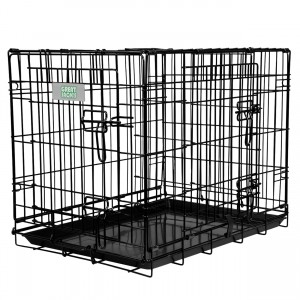 Deluxe Double Door Wire Crate - 24""