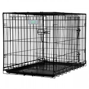 Deluxe Double Door Wire Crate - 42""
