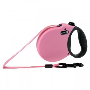 Adventure Retractable Leash - Pink - Medium