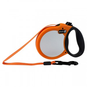 Adventure Visibility Retractable Leash - Neon Orange - Medium