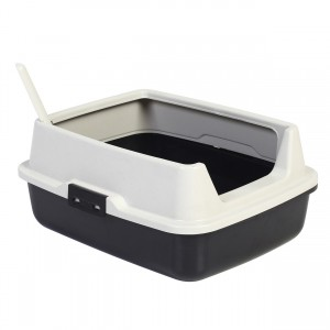 Deluxe Cat Litter Pan with High Rim