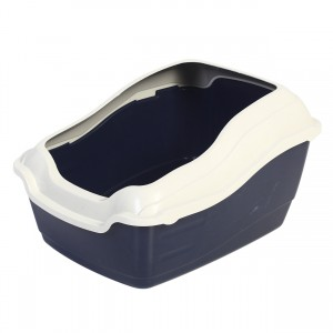 Deluxe High Back Cat Litter Pan with Rim