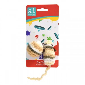 Chenille Ball and Mouse - 2 pk