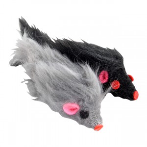 Furry Mouse Toy - 2 pk