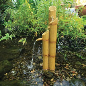 Aquascape Pouring Three-Tier Bamboo Fountain