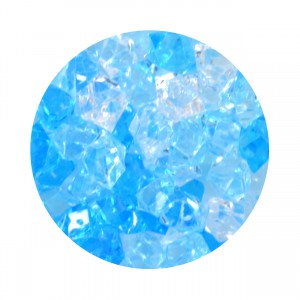 Crystal Gems Acrylic Gravel - Blue Ice - 5 oz