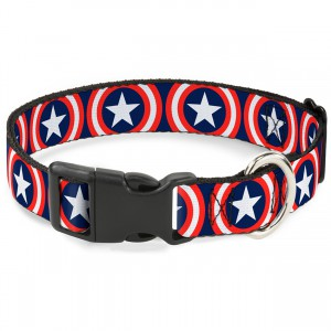Captain America Shield Collar - Medium