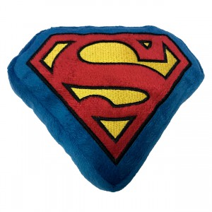 Squeaky Plush Toy - Superman Shield