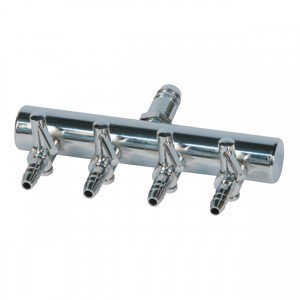 """Air Manifold T Style - 3/8"""" Inlet - 4 Valve Outlet"""