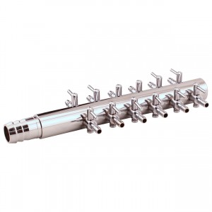 """Air Manifold Trumpet Style - 0.625"""" Inlet - 12 Valve Outlet"""