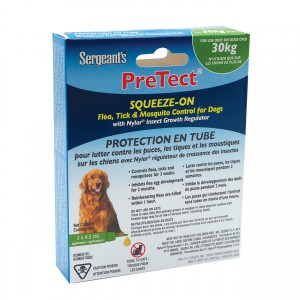 Pretect Squeeze-On Flea, Tick & Mosquito Control for Dogs - 30+ kg - 3 pk