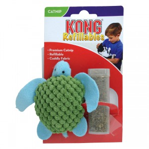 KONG Refillable Catnip Toy - Turtle