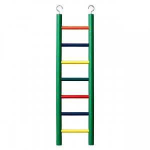 7-rung Wood Bird Ladder - Multi-color