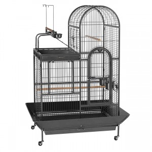 """Deluxe Parrot Bird Cage with Playtop - Black - 36.5"""" x 27.38"""" x 63.5"""""""