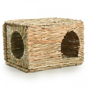 Folding Woven Grass Rabbit Hut