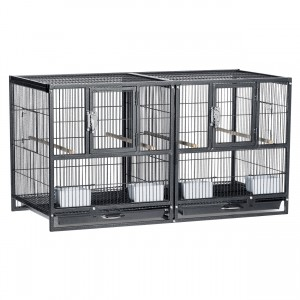 "Hampton Deluxe Divided Breeder - Black - 37.5"" x 18"" x 20.5"""