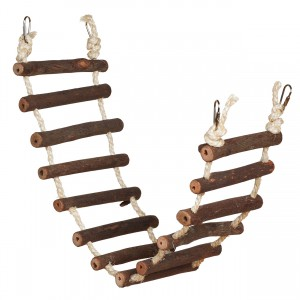 Naturals Rope Bird Ladder - 27.75""