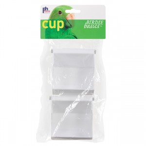 Birdie Basics Outside Access Bird Cage Cup - 3 fl oz - 2 pk