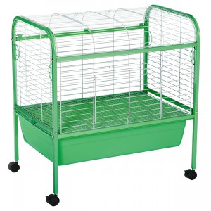 "Small Animal Cage with Stand - Green - 29"" x 19"" x 31"""