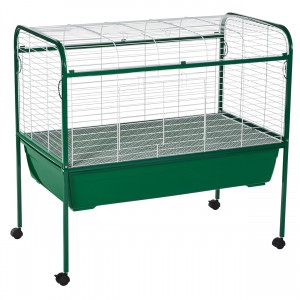 "Small Animal Cage with Stand - Forest Green - 40"" x 22"" x 37"""