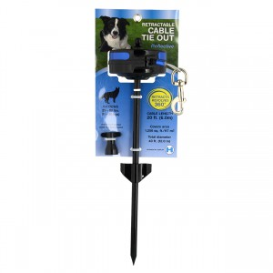 Retractable In-Ground Cable Tie Out - Medium