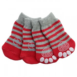 Anti-Slip Socks - Red - Large