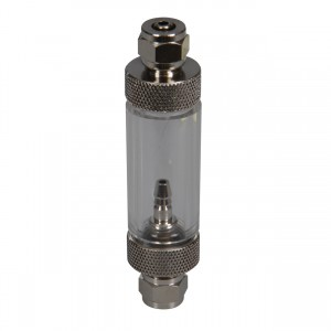 2-in-1 Metal Bubble Counter & Check Valve - In-line